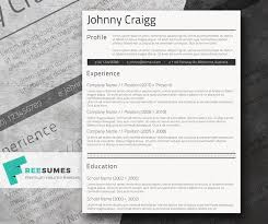 Free Professional Resume Templates Inspiration Simple CV Template For Free Shades Of Black Freesumes