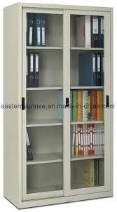 2 sliding glass door office furniture metal steel iron cupboard cabinet