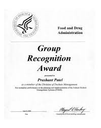 bcpi fda group recognition award testimonial letter to bcpi fda group recognition