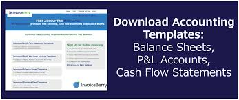 Cash Flow Sheets Download Accounting Templates Balance Sheets P L Accounts