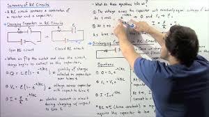 rc circuits charging capacitors discharing capactiors and equations you