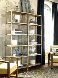 brass and glass shelving unit antique brass bookshelf shelving unit painted had this idea before i brass and glass shelving unit
