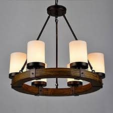 rustic wooden wrought iron chandeliers shades of light inside wood