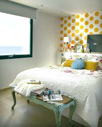 accent walls for bedrooms. Accent Wall Colors Yellow Dots Bedroom . Walls For Bedrooms