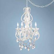 miraculous plug in mini chandelier on swag chandeliers intended for decor 9