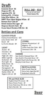 Beer Menu - Bull Mccabe's Pub