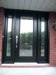 glass front door for business all glass front door black seal doors for business glass front