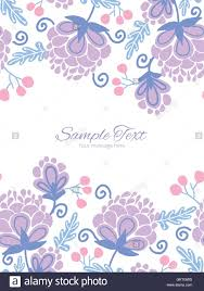Invitation Boarders Vector Soft Purple Flowers Vertical Double Borders Frame Invitation