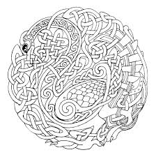 Coloring Irish Celtic Designs Coloring Pages Printable Mandala