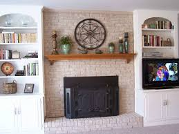 can you whitewash brick fireplace