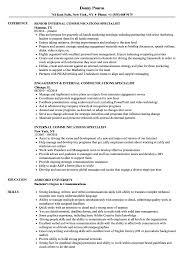 Communications Specialist Resume Internal Communications Specialist Resume Samples Velvet Jobs 5