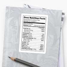 oreo nutrition facts by shancookies