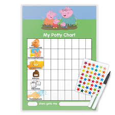 Funky Monkey House Peppa Pig Potty Toilet Training Reward Chart Pen Free Star Stickers Pg10t