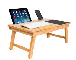 sofia sam multi tasking laptop bed tray lap desk supports laptops up to 18 inches natural