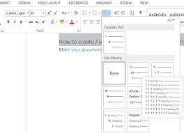 How To Create Table Of Contents Toc In Microsoft Word 2016 2010