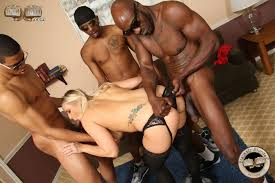 Interracial milf gang bang