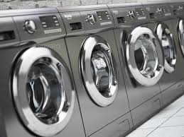 row of washing machines. Perfect Row Row Of Washing Machines In A Public Laundromat Stock Photo By Maxxyustas With Of Washing Machines
