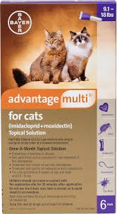 Advantage Ii Dosage Chart For Cats Advantage Multi Topical Solution For Cats 9 1 18 Lbs 6 Treatments Purple Box