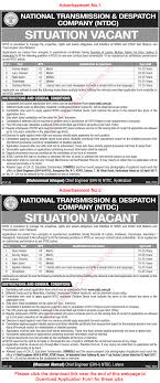 ntdc jobs application form national transmission and ntdc jobs 2017 application form national transmission and despatch company latest