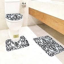 bathroom contour rug black and white bath mat set 3 piece toilet rug bathroom contour mat