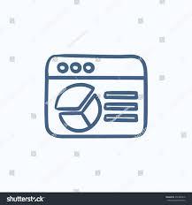 Browser Window Pie Chart Vector Sketch Stock Vector
