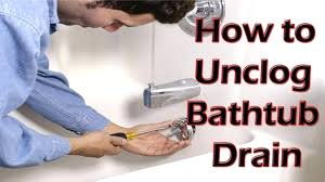 unclog shower drain without snake with bleach how does bathtub unclogging a bath vinegar and baking
