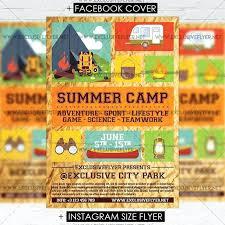 Summer Camp Flyer Template Minimalist Best Kids Print Templates Link