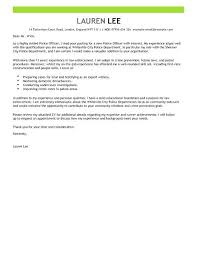 Law Enforcement Resume Cover Letter Examples Police Cover Letter