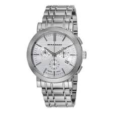 burberry bu1372 men s chronograph stainless steel bracelet watch