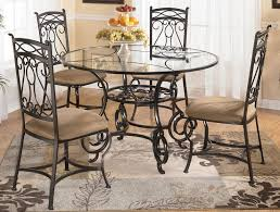 furniture round table with metal chairs to complete your home within metal dining room chairs metal