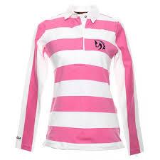 flamingo white rugby shirt