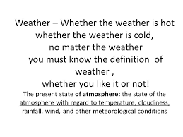 Weather Patterns Definition