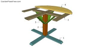full size of furniture exquisite round picnic table plans 20 buidling a 600x354 round picnic table