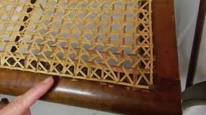 the difference between a hand caned chair and a pressed cane chair you