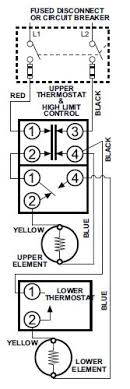 manufactured mobile home underground electrical service under dual element thermostat wiring diagram diy mobilehome