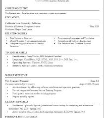 Science Resume Template Fascinating Sample Resume For Computer Science Andaleco
