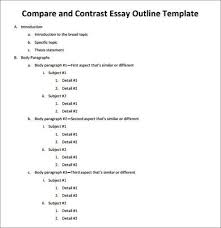 sample outline for essay  persuasive research essay outline  compare contrast essay outline template