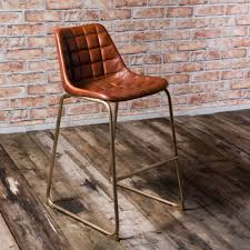 brown leather bar stools. Vintage Leather Metal Foula Bar Stool Brass/Black Brown Stools E