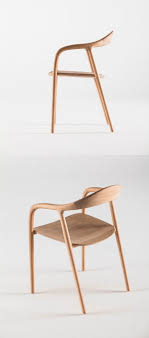 Furniture: Twisted White And Wooden Pod Unique Chairs - Furniture