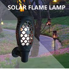 <b>96 Led</b> 7 Light Colors Rgb Ip65 <b>Led Solar Flame</b> Light <b>Outdoor</b> ...