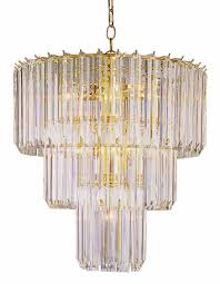 hollywood regency style bel air crystal chandelier
