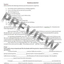 Preterite Vs Imperfect Worksheet With Answers Free Worksheets ...