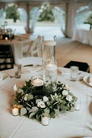 lush garden wedding with greens galore and round table centerpiece ideas home design centerpieces for party