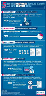 5 Resume Mistakes You Are Making And How To Avoid Them (Infographic ...