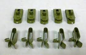 1955 1957 chevy original inner fender wire harness clips green