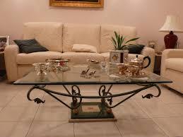 Tavoli Di Vetro Da Salotto : Arredamento in ferro design e cristallo tavolo