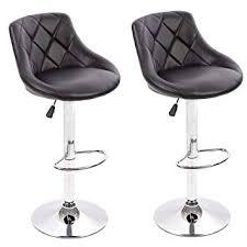 modern leather bar stools. BestMassage PU Leather Bar Stools Modern Swivel Dinning Kitchen Chair,Set Of 2 S