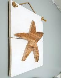 wooden starfish wall art