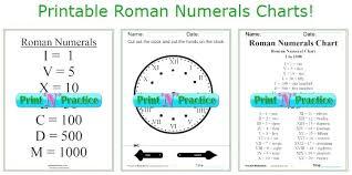 Super Bowl Roman Numerals Chart Roman Numeral Chart 2019