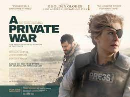 A Private War Movie Poster (#3 of 3) - IMP Awards